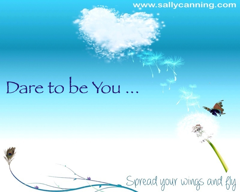 blue sky and a butterfly with the saying Dare to be You