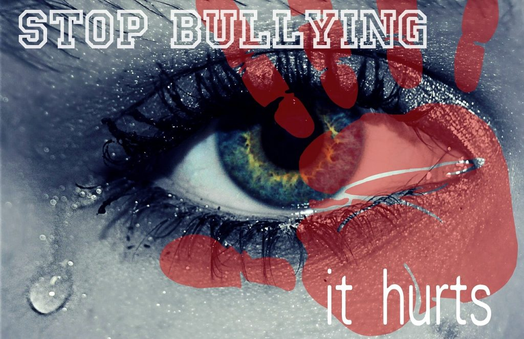 eye crying with quote stop bullying it hurts