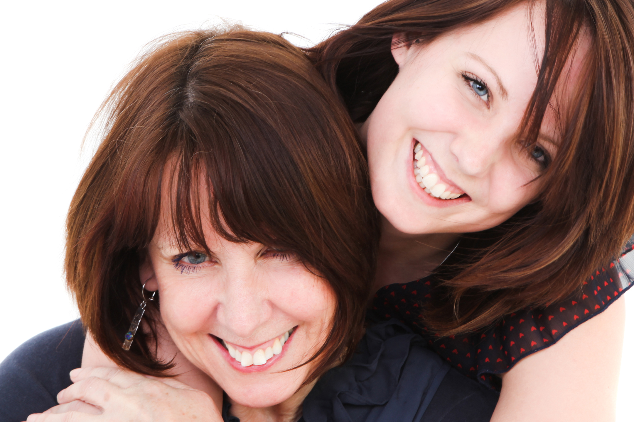 sally canning and daughter smiling