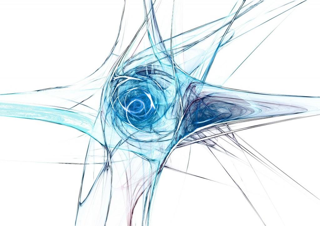 abstract blue art work